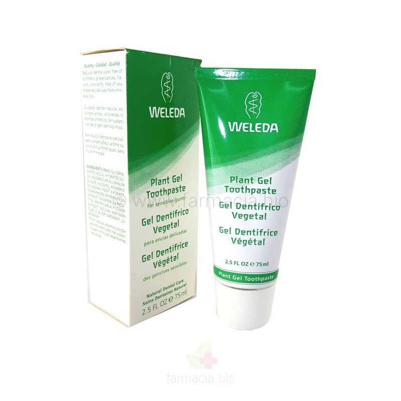 Gel dentífrico Vegetal 75ml / duplo 75 ml