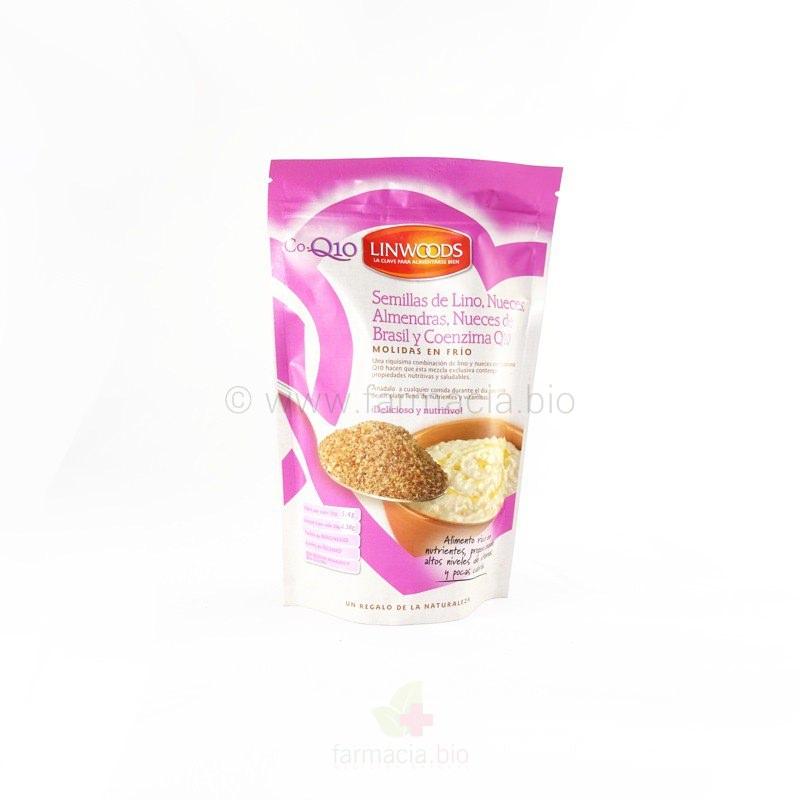 Semillas de lino ECO con nueces, almendras, nueces de Brasil y coenzima Q10 BIO molidas 200 g