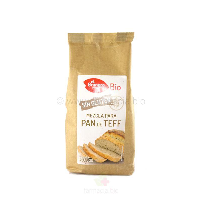 Mezcla para pan de teff sin gluten BIO 450 g
