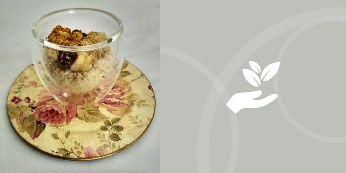 Desayuno de cous cous con lino y frutas BIO