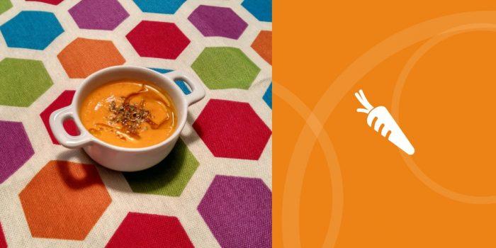 Crema fría de zanahoria con jengibre y cúrcuma BIO
