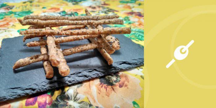 Piquitos de centeno BIO con semillas de amapola