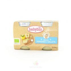 Delicia de manzana y galleta BIO 2 x 130 gramos (Babybio)