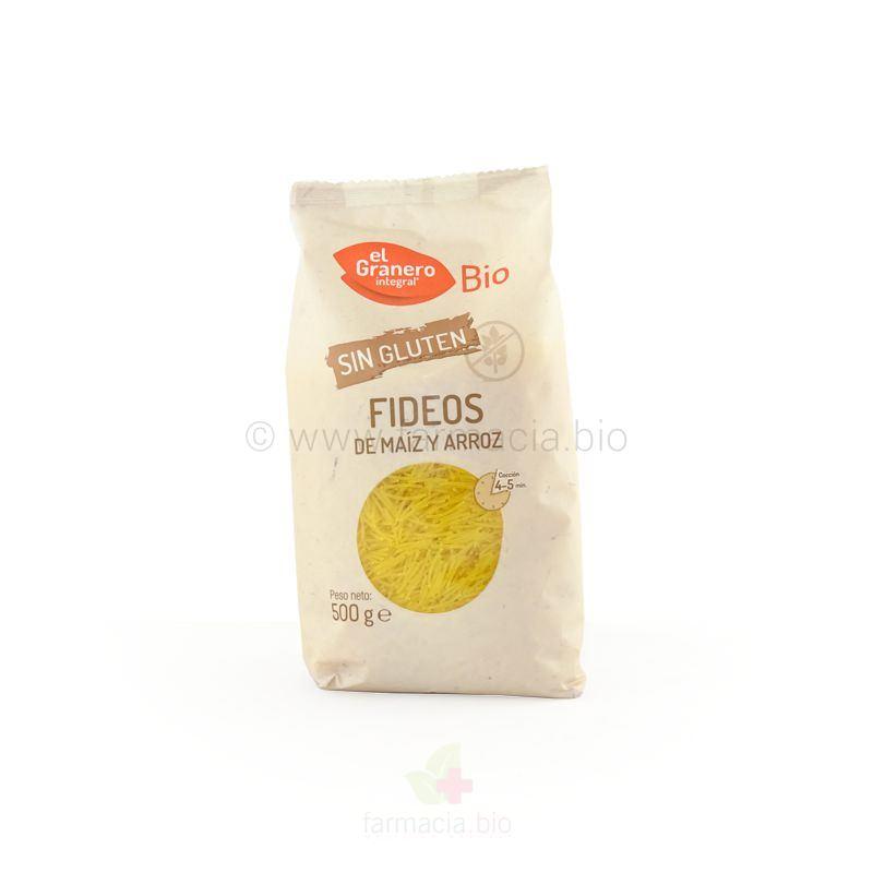 Fideos de maíz y arroz sin gluten BIO 500 g