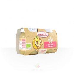 Manzana y plátano BIO 2 x 130 gramos (Babybio)