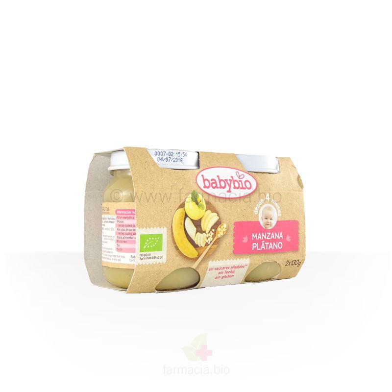 Manzana y plátano BIO 2 x 130 g