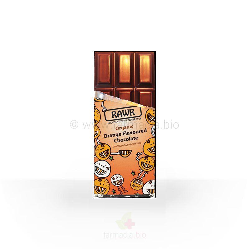Chocolate BIO crudivegano a la naranja 60 g