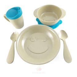 Conjunto vajilla infantil ecofriendly 5 p fibra de arroz (The Dida World)