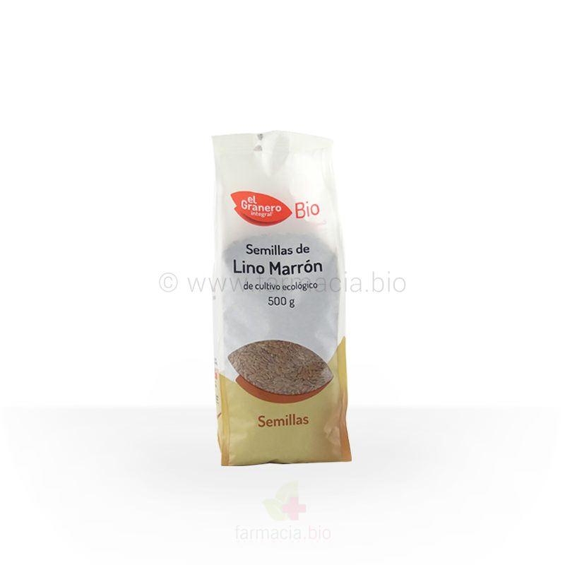Semillas de lino marrón BIO 500 g
