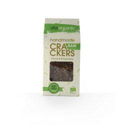 Cracker crudivegano aceitunas-romero ECO 90g (Vitaorganic)