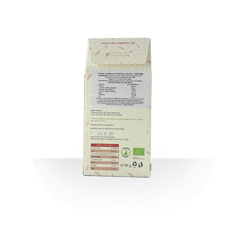 Cracker crudivegano pimiento y quinoa ECO 90g