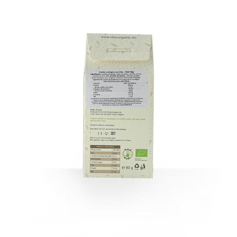 Cracker crudivegano semillas de chía ECO 90g