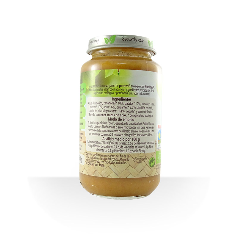 Potito delicias de verduras con ternera ECO 250 g