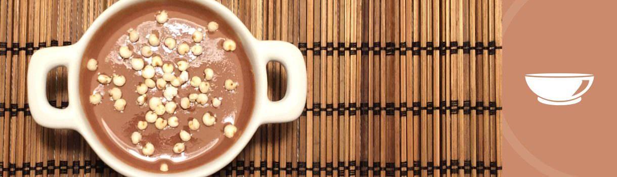 Natillas de amaranto y cacao ecologica