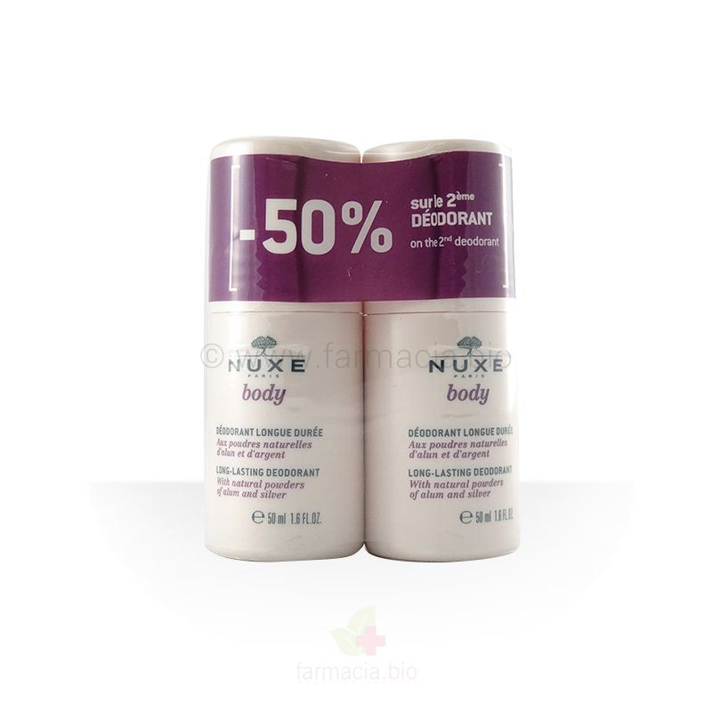 Desodorante larga duración roll-on Nuxe Body 50 ml / duplo 50 ml