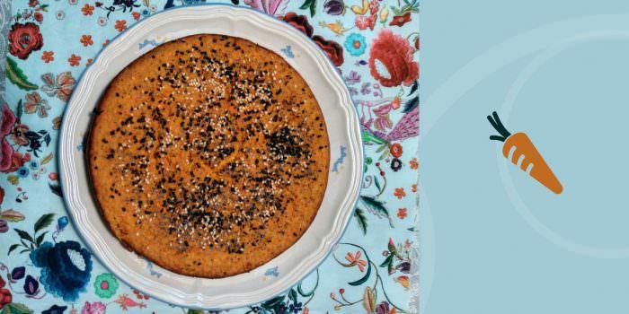 Pastel de soja y Zanahoria ecológica