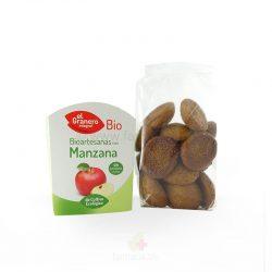 Galletas artesanas con manzana BIO 250 G