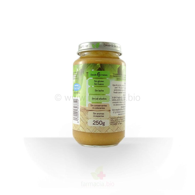 Potito verduras de la huerta y pavo ECO 250 G
